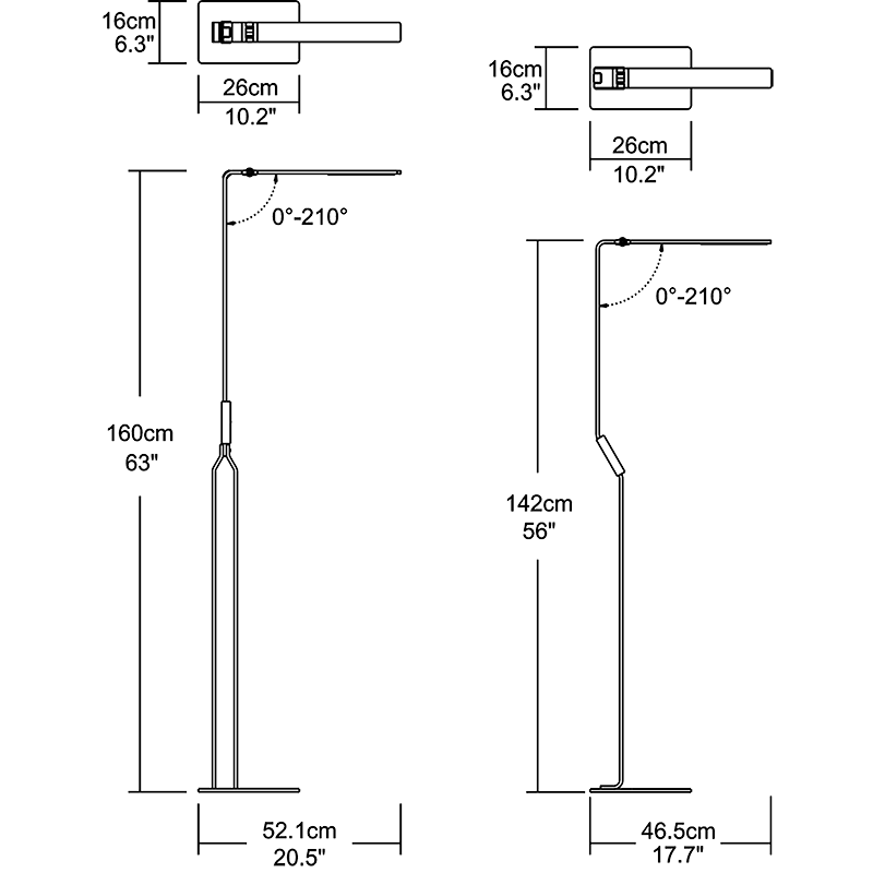 Infinity Floor Lamp Dimension