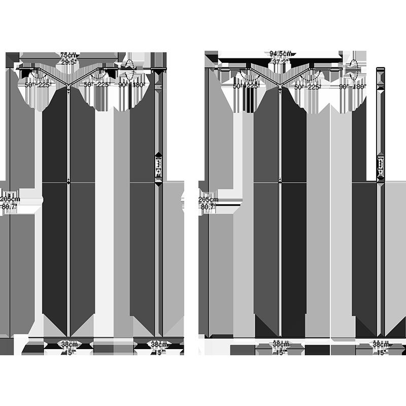 Agility Double Floor Lamp Dimension