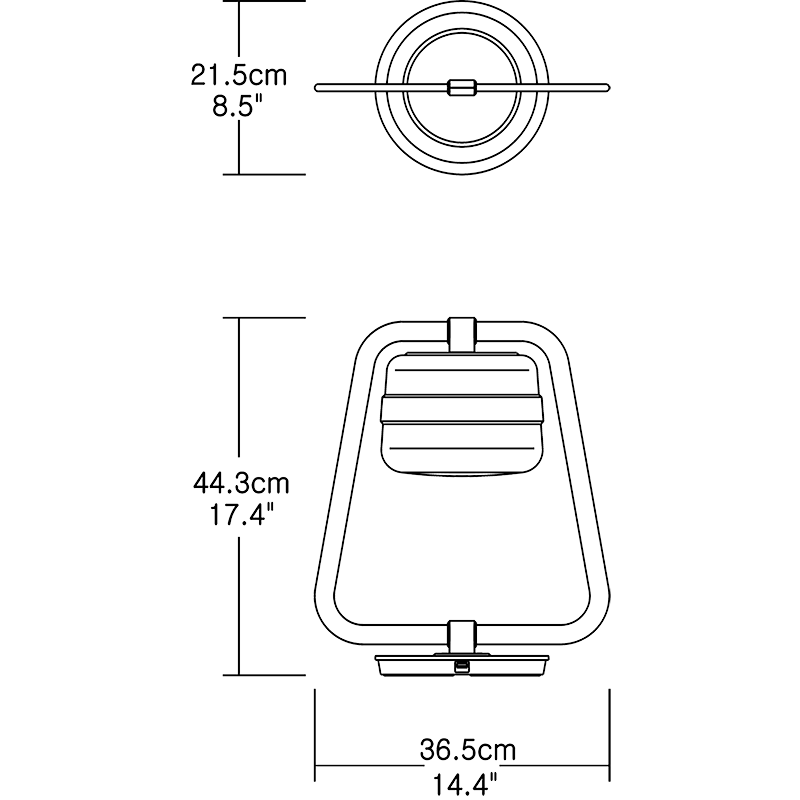 Mult Table Lamp Dimension