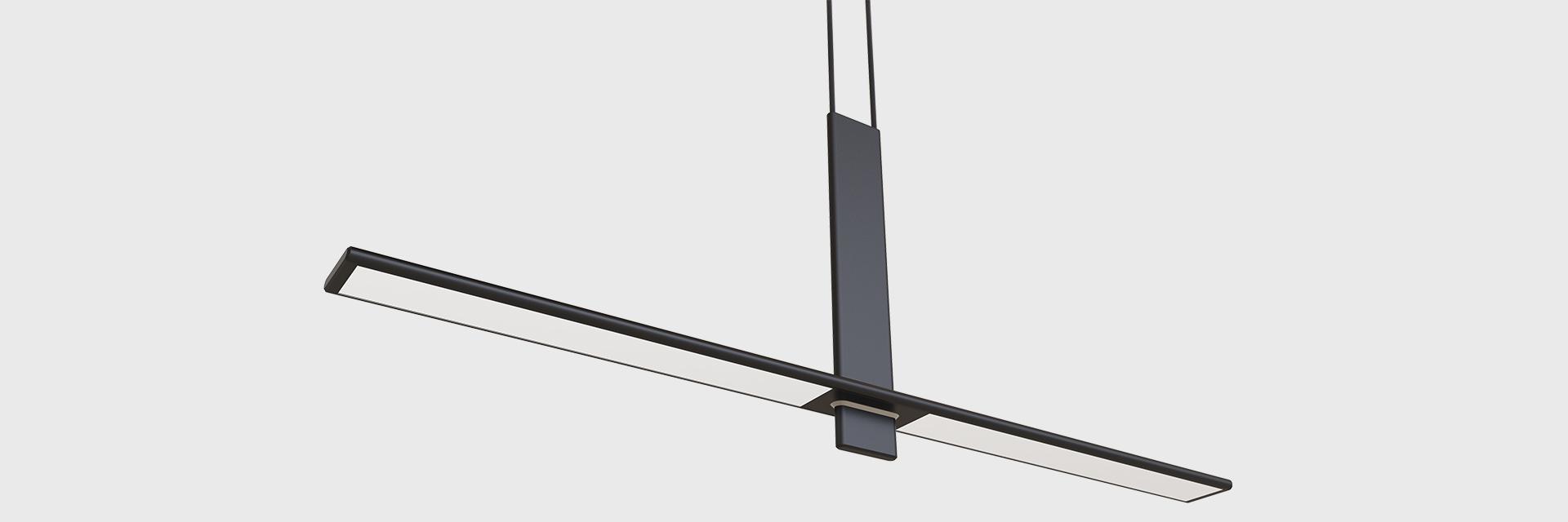Pendant Lighting Poise Led Linear Suspended Series Zentem