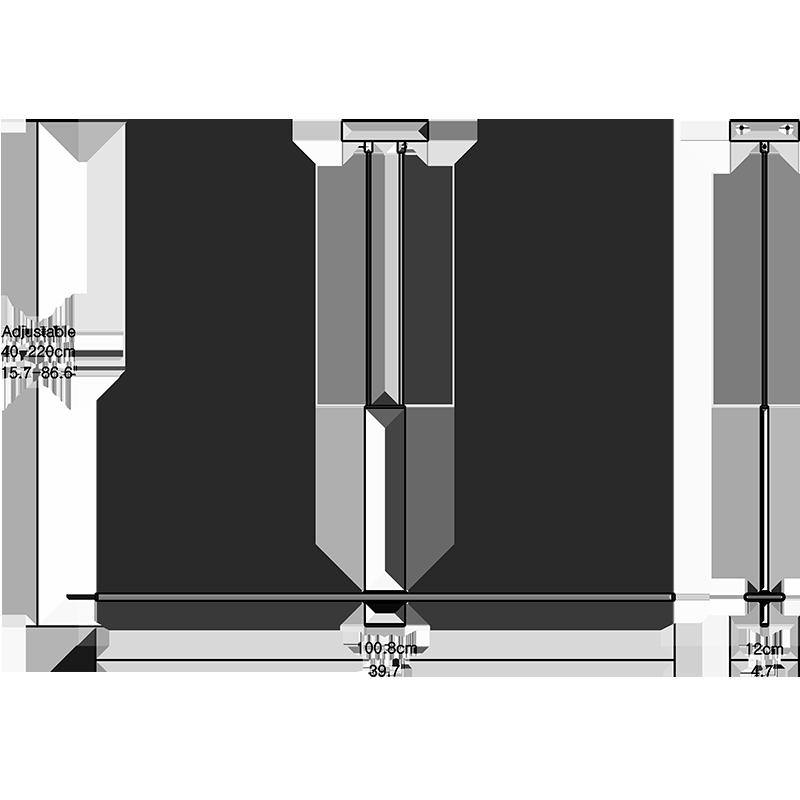 Poise Linear Pendant Lighting Dimension